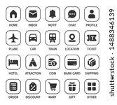 mobile web app icon set vector...