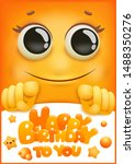 birthday greeting card cover.... | Shutterstock .eps vector #1488350276