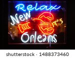 a neon sign from new orleans. | Shutterstock . vector #1488373460