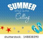 summer holidays poster ... | Shutterstock . vector #148838390
