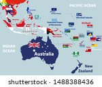 vector map of australia ... | Shutterstock .eps vector #1488388436