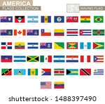 american waving flag collection.... | Shutterstock .eps vector #1488397490