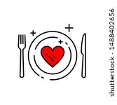heart diet icon. conceptual eat ... | Shutterstock .eps vector #1488402656