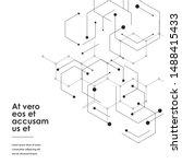 hexagons genetic  science...   Shutterstock .eps vector #1488415433