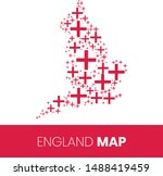 england map filled with flag... | Shutterstock .eps vector #1488419459