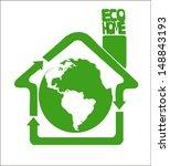 green recycle arrows composing... | Shutterstock .eps vector #148843193