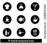 food and restaurant icon set.... | Shutterstock . vector #148844183