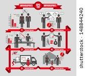 vector business info graphic... | Shutterstock .eps vector #148844240
