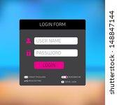 dark login form template  ... | Shutterstock .eps vector #148847144