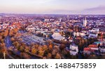 Skyline Of City Paderborn In...