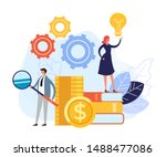 online web education concept.... | Shutterstock .eps vector #1488477086