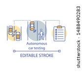 autonomous car testing concept... | Shutterstock .eps vector #1488490283