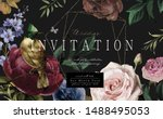 wedding invitation  save the... | Shutterstock .eps vector #1488495053