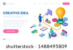 creative idea. isometric idea... | Shutterstock .eps vector #1488495809