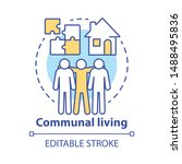 communal living concept icon.... | Shutterstock .eps vector #1488495836