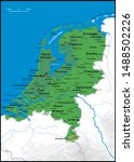 high detailed holland physical... | Shutterstock .eps vector #1488502226