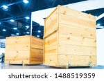 Wooden Boxes In The Warehouse....