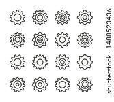 Gears Line Icons Set. Cogs ...