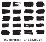 collection of paint strokes... | Shutterstock .eps vector #1488525719