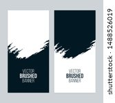 minimal banners with brush... | Shutterstock .eps vector #1488526019