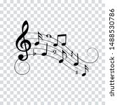 music notes and symbols for... | Shutterstock .eps vector #1488530786