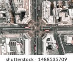 Drone Shot Of Oxford Circus...