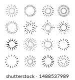 set of vintage hand drawn...   Shutterstock .eps vector #1488537989