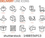 set of logistic icons  such as... | Shutterstock .eps vector #1488556913