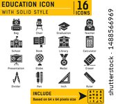 education icon with solid style....