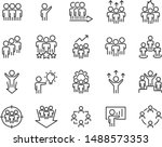 set of training icons  meeting  ... | Shutterstock .eps vector #1488573353