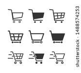 set of black cart icons ... | Shutterstock .eps vector #1488574253
