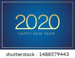 2020 happy new year text for...   Shutterstock .eps vector #1488579443