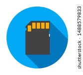 memory card flat icon with long ... | Shutterstock .eps vector #1488579833