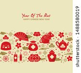 2020 chinese new year  year of... | Shutterstock .eps vector #1488580019