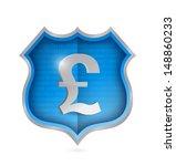 british pound security shield...   Shutterstock . vector #148860233