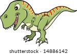 illustration of a t rex dinosaur   Shutterstock .eps vector #14886142