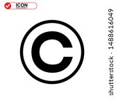 Copyright Icon Isolated Sign...