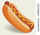 vector hot dog illustration