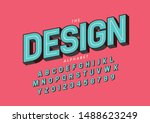 vector of stylized modern font... | Shutterstock .eps vector #1488623249