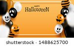happy halloween . design with... | Shutterstock .eps vector #1488625700