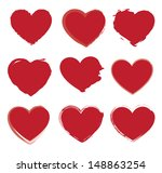 hearts icons over white... | Shutterstock .eps vector #148863254