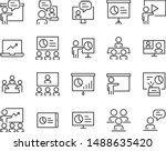 set of training icons  meeting  ... | Shutterstock .eps vector #1488635420