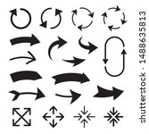 collection of concept curve... | Shutterstock .eps vector #1488635813