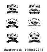 festival grand classic logo... | Shutterstock .eps vector #1488652343