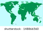 extruded map of the world.... | Shutterstock .eps vector #148866560