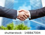 close up of business people... | Shutterstock . vector #148867004