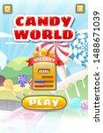game ui candy world match 3 set ...