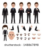vector business man with parts... | Shutterstock .eps vector #148867898
