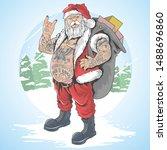 christmas santa claus full... | Shutterstock .eps vector #1488696860