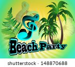 beach party | Shutterstock .eps vector #148870688
